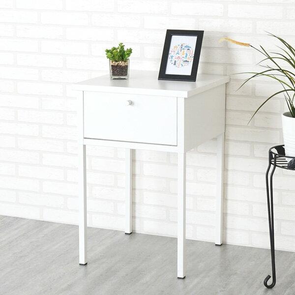 茶几床邊桌床邊桌邊桌抽屜桌【Yostyle】諾伊鋼製床邊桌(象牙白)