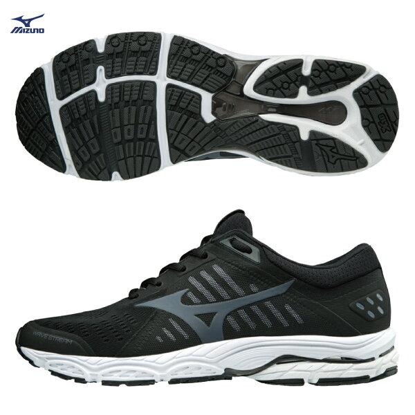 J1GC181936(黑X黑灰)WAVESTREAM一般型男款慢跑鞋【美津濃MIZUNO】