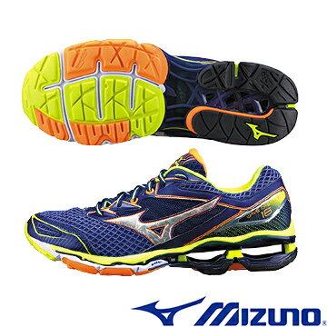 J1GR160182(藍X銀X灰)全新旗艦款 WAVE CREATION 18 男慢跑鞋 Q【美津濃MIZUNO】