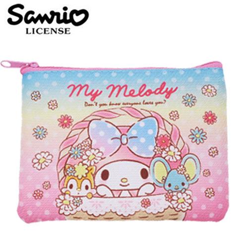 【日本正版】美樂蒂 零錢面紙包 零錢包 卡片包 收納包 My Melody 三麗鷗 Sanrio - 450885