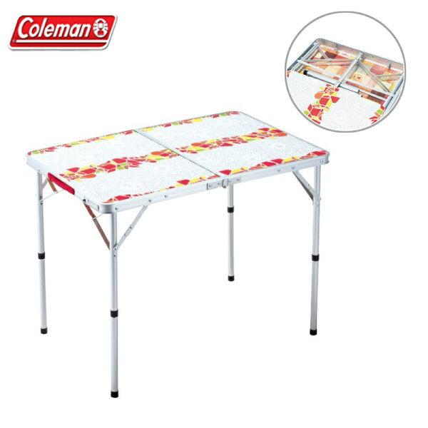 【露營趣】ColemanCM-26748可換面板休閒桌90二段高低折疊桌摺疊桌野餐桌露營桌休閒桌