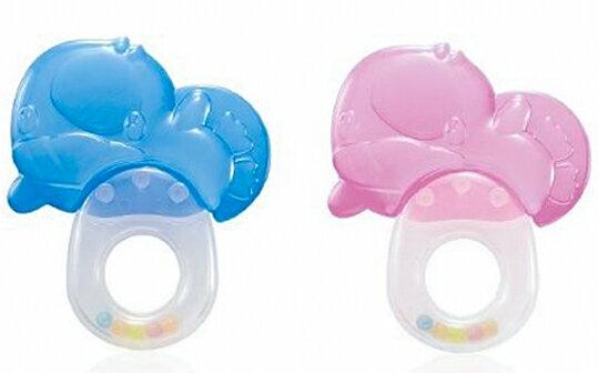 樂寶家:【酷咕鴨】造型冰鑽固齒器(藍色粉色)【樂寶家】