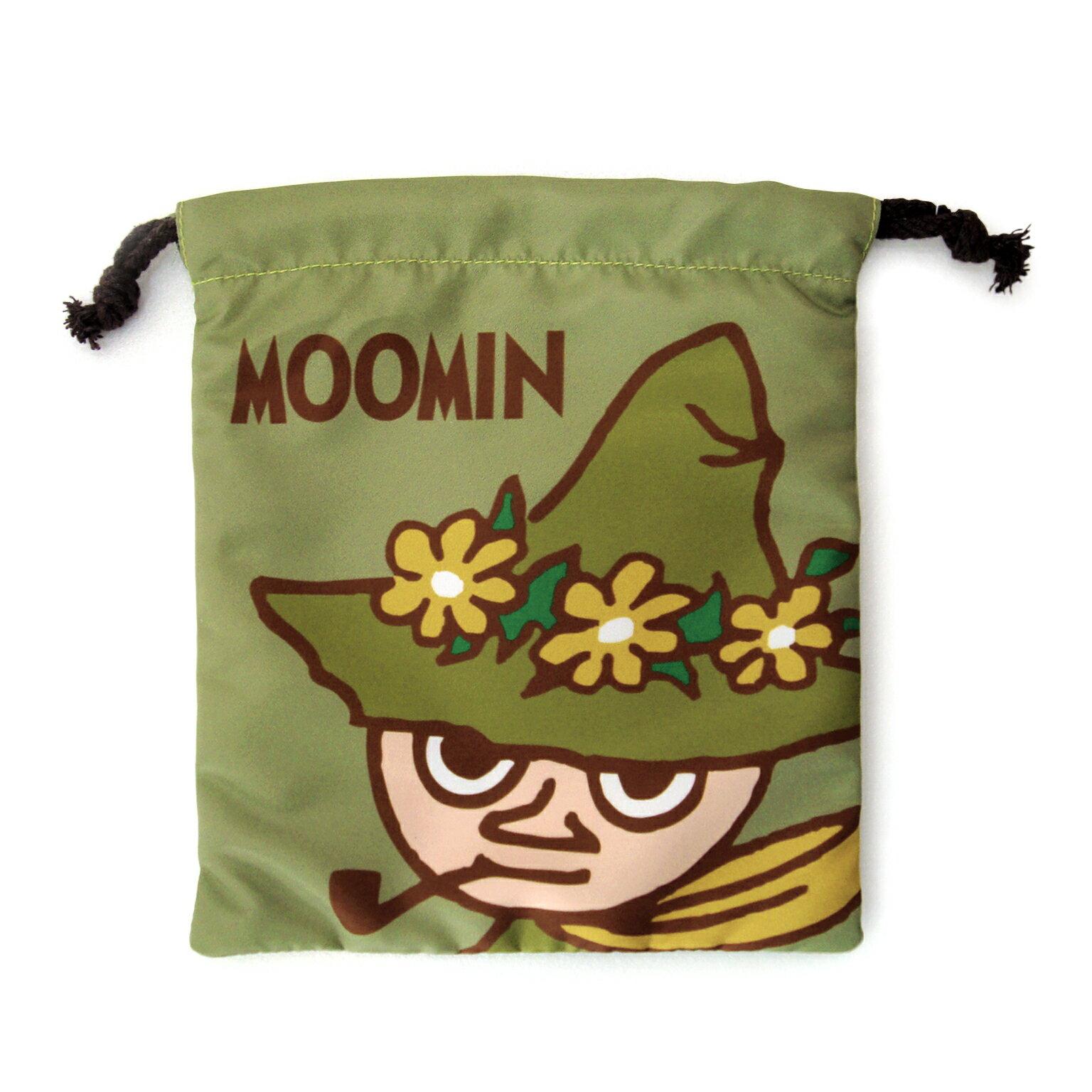 ~禾宜 ~ Moomin 嚕嚕米 阿金^(綠色^) 束口袋 束口包 小提袋 包  M102