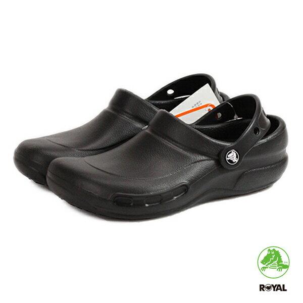 CROCS 卡駱馳 bistro 廚師鞋 防滑 防水 涼拖鞋 黑色 男女款 NO.A6758【新竹皇家】