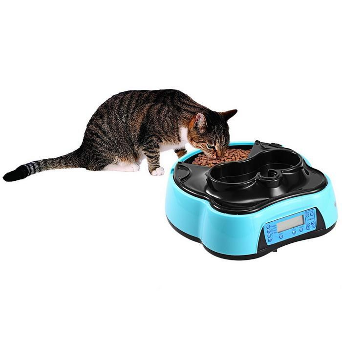 Automatic Pet Feeder with Voice Recorder Timer Programmable Food Dispenser 4