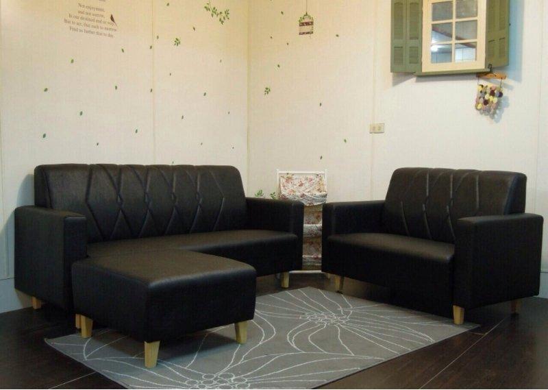 !!新生活家具!! 2+3+腳椅 皮沙發 黑色 寧靜之夜 七色可選 工廠直營.台灣製造 非 H&D ikea 宜家