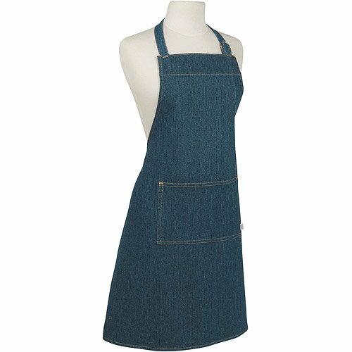 《NOW》平口單袋圍裙(牛仔藍)