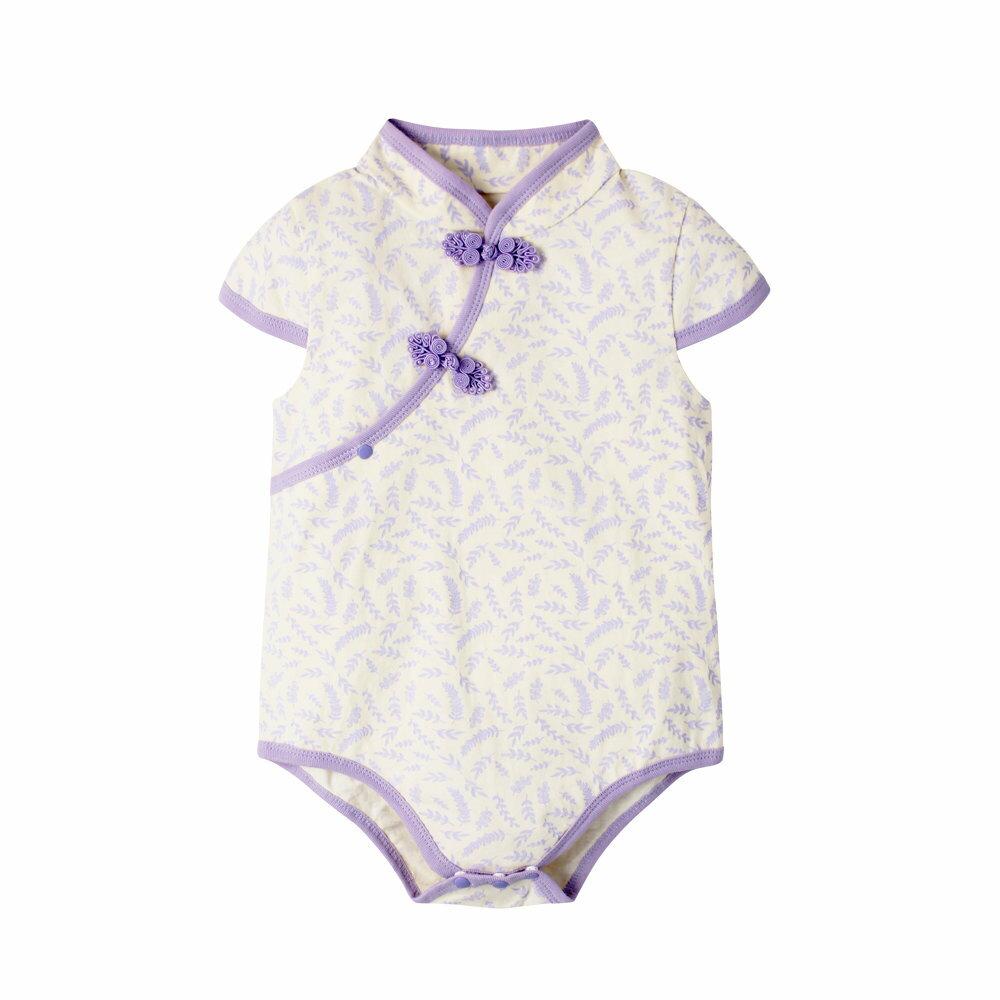 Augelute Baby 斜襟漂亮花朵短袖包屁衣 60321 2