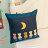 貓咪曬月亮抱枕  棉麻材質  45cmX45cm 花色獨特 觸感扎實 3