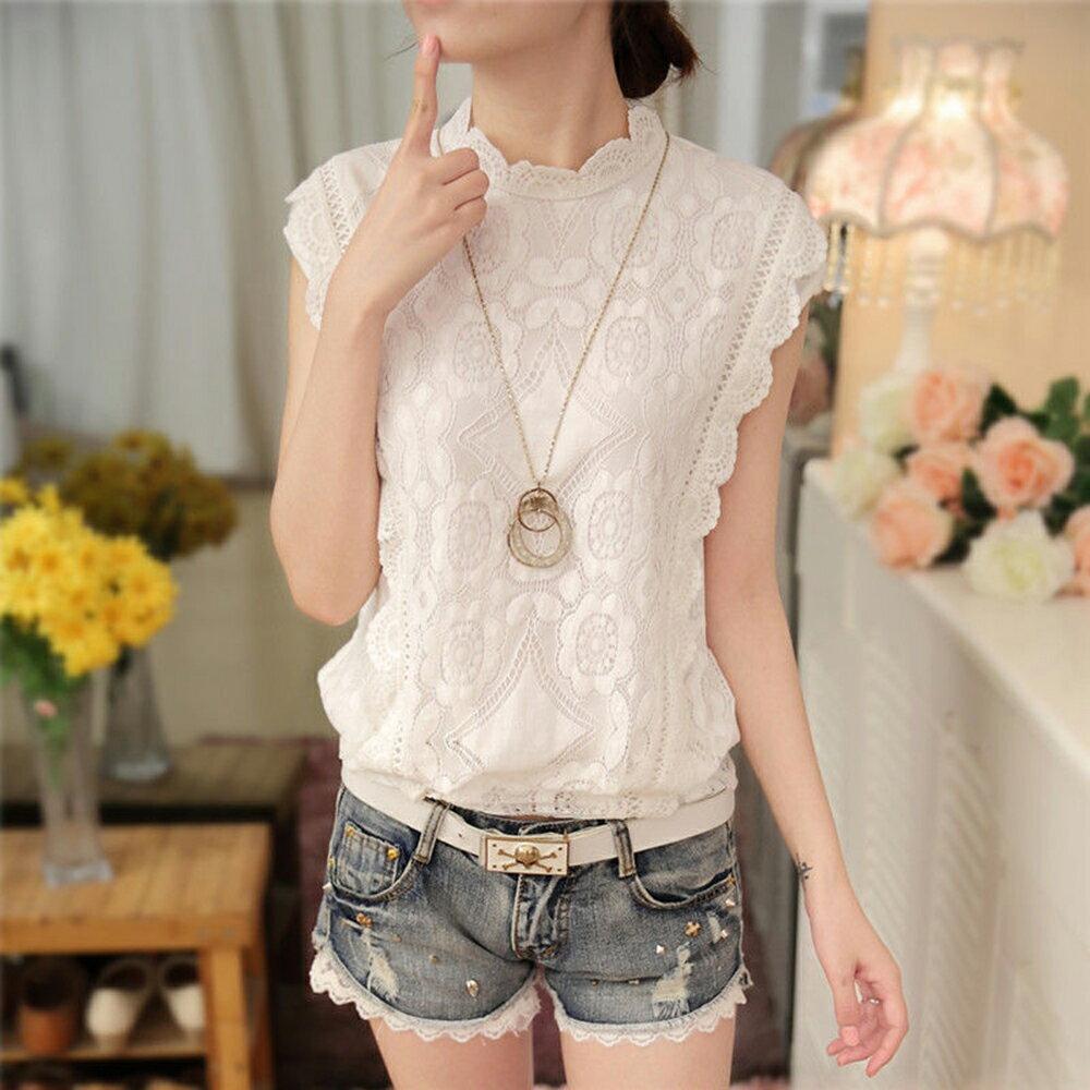 無袖蕾絲衫 (白色,S~2XL)【OREAD】 - 限時優惠好康折扣