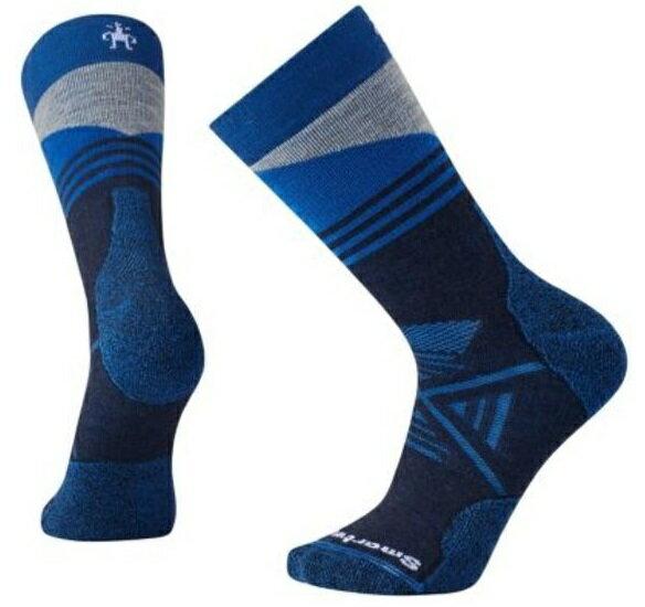 【【蘋果戶外】】Smartwool SW001209 092 深海軍藍 PhD 戶外中量級印花中長統筒襪 登山襪 美國製造 美麗諾羊毛襪 保暖