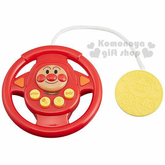 〔小禮堂嬰幼館〕麵包超人 方向盤玩具《紅.大臉.泡殼紙卡》適合10個月以上