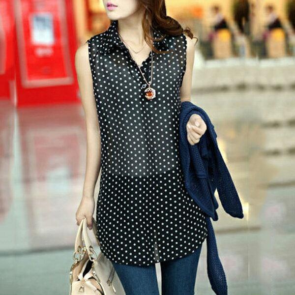 現貨 兩件組!韓版雪紡襯衫+鏤空長袖針織衫 - ORead 自由風格 6