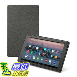 [107美國直購] 保護套 Amazon Fire HD 10 Tablet Case (7th Generation, 2017 Release), Charcoal Black