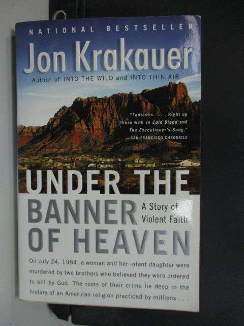 【書寶二手書T1/原文小說_LBK】Under the Banner of Heaven..._Krakauer