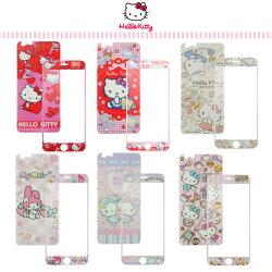 正版授權 三麗鷗 Hello Kitty Apple iPhone 6 / 6S (4.7吋) 鋼化玻璃保護貼(正面+反面) 強化/9H 硬度/手機保護貼/凱蒂貓/美樂蒂 Melody