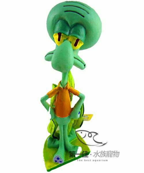 [第一佳 水族寵物] 美國PENNPLAX 卡通飾品系列(授權販售) [海綿寶寶-大章魚哥] 免運
