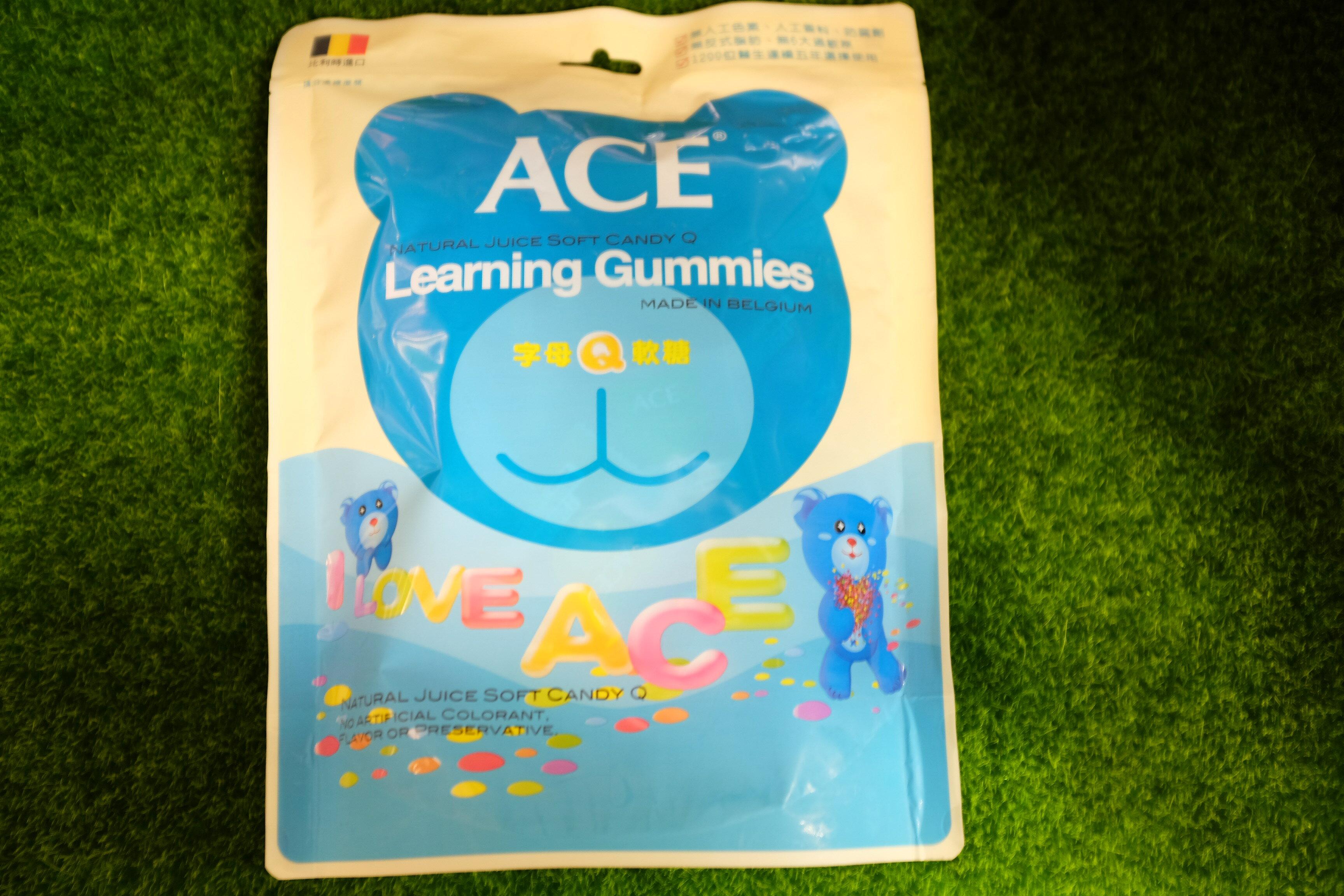 ACE 藍色 字母Q軟糖 240g#無糖粉