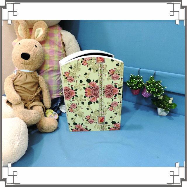 皮革KEY BOX《LK4-大1》鄉村玫瑰木製皮革鑰匙盒 收納盒 壁櫃 壁飾 鄉村風家飾◤彩虹森林◥