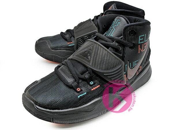 2020 Kyrie Irving 最新代言鞋款 NIKE KYRIE 6 VI GS 11:11 ELEVEN SHOT CLOCK 大童鞋 女鞋 全黑 LED 字體 歐文 籃球鞋 (BQ5599-006) 0820 1