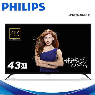 Philips 飛利浦 43吋 4K UHD連網液晶顯示器 43PUH6002/96