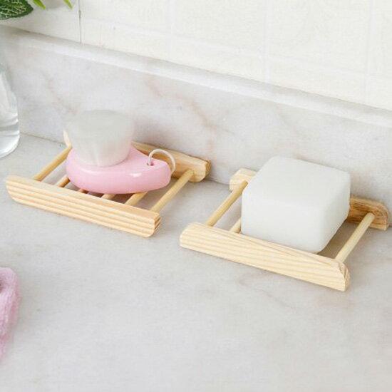 ♚MY COLOR♚天然木質手工皂架 創意 瀝水 肥皂架 浴室 香皂盒 肥皂網 廚房 洗手台【P312】