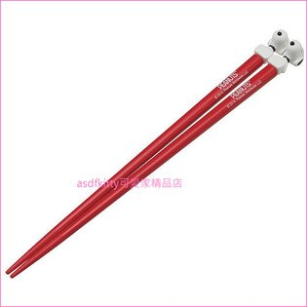 asdfkitty可愛家☆SNOOPY史努比造型筷子-紅色-日本正版商品