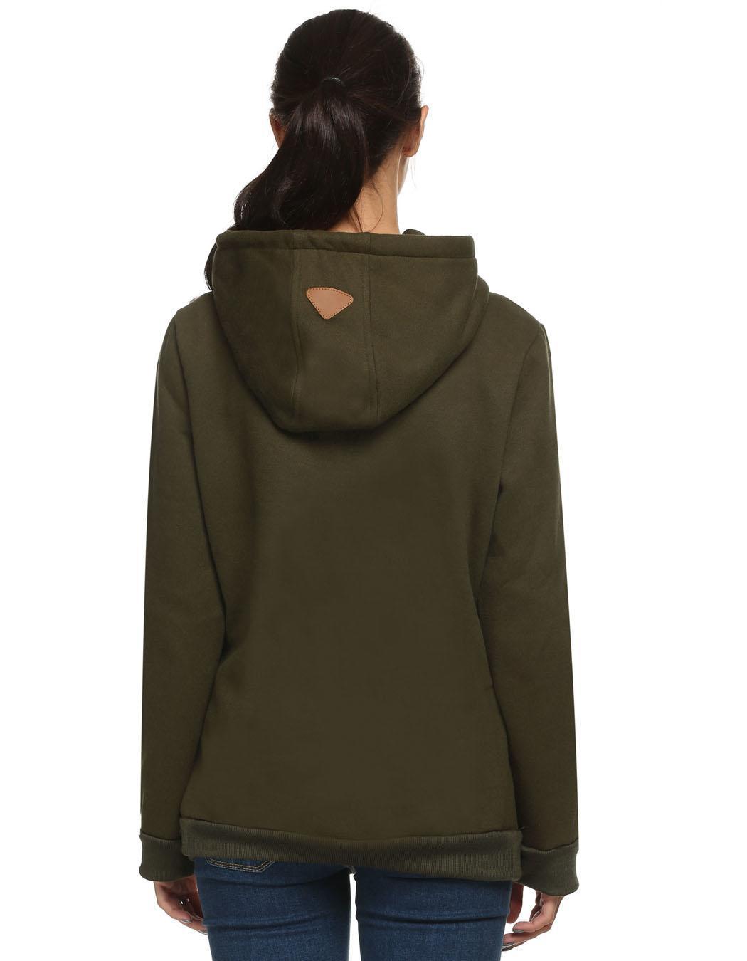 Women Long Sleeve Casual Pullover Hooded Sweatershirt Hoodies 4