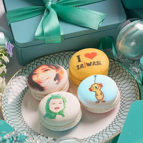 客製化影像列印馬卡龍 (禮盒5入裝) 屬於您的客製影像禮物,會說話的甜點 自拍美照、情侶放閃、偶像明星 專屬禮物 婚禮小物 生日禮物【映相咖啡】