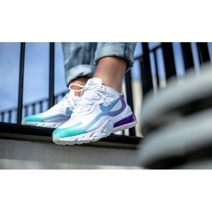 【日本海外代購】Nike Air Max 270 React 粉 藍紫色 漸層 麂皮 休閒 氣墊 女鞋 AT6174-102