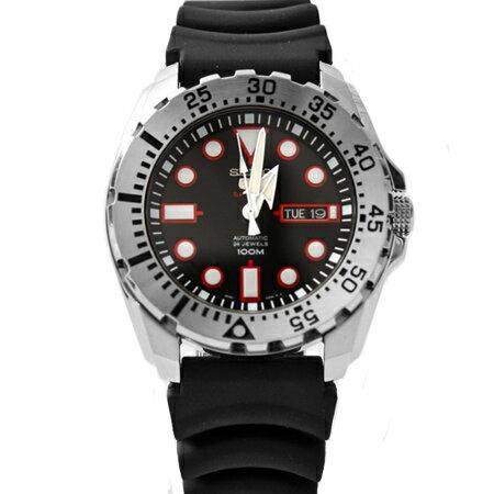 SEIKO精工5號盾牌 運動系列百米防水粗曠機械錶 輕量橡膠錶帶 柒彩年代【NE1515】原廠平輸