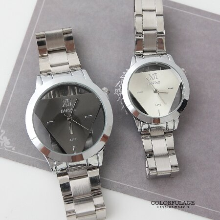 手錶 鏤空倒三角金屬腕錶 獨特設計中性款男女皆可 禮物首選 柒彩年代【NE1550】