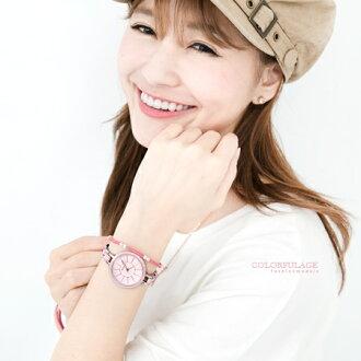 手錶 小資女孩簡約線條刻度設計腕錶 仿陶瓷細版錶帶 氣質女孩專屬 柒彩年代【NE1574】