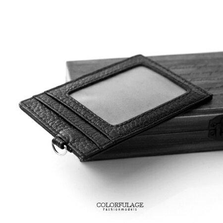 名片夾.卡片夾質感真皮短夾 隨身攜帶小物照片夾 簡約時尚黑色澤 柒彩年代【NW417】配件