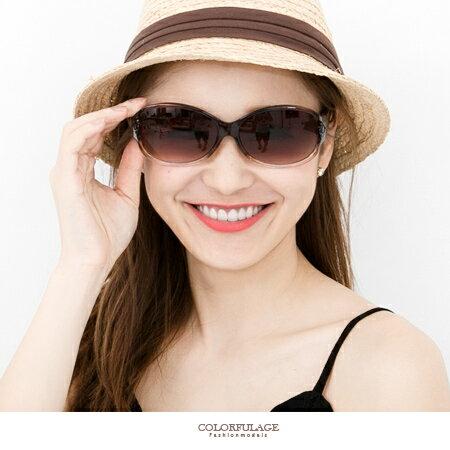 墨鏡 玩美圓弧太陽眼鏡 側邊甜美小花設計 MIT名媛.明星造型款 柒彩年代【NY293】單支價格