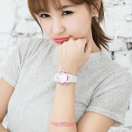 手錶 繽紛馬卡龍多色圓型小徑面設計指針腕錶膠錶 運動潮流新單品 柒彩年代【NE1500】單支售價