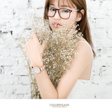 手錶 熱銷玫瑰金簡約配色氣質女孩專屬腕錶 典雅乾淨 仿陶瓷錶帶 柒彩年代【NE1542】單支價格 0