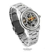 父親節禮物推薦Valentino范倫鐵諾 自動上鍊機械不鏽鋼腕錶手錶 精緻雙面鏤空 柒彩年代【NE1467】