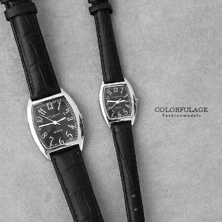 手錶 經典酒桶造型數字皮革腕錶 原廠公司貨 范倫鐵諾Valentino 柒彩年代【NE1534】單支價格