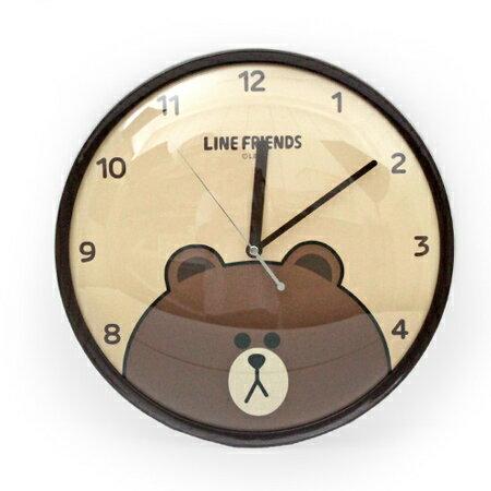 時鐘 愛不釋手LINE熊大圖案圓型掃秒掛鐘 卡通可愛居家風 台灣製造 柒彩年代【NE1522】創意家飾
