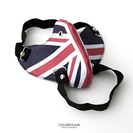 面罩 經典英國國旗造型皮革面具口罩 皮革製作龐克風格 柒彩年代【NM48】舞蹈表演配件 0