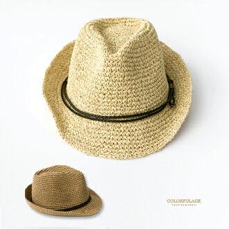 紳士帽 夏日渡假氣氛藤編帽 出門必備好搭配單品 遮陽防曬透氣舒適 柒彩年代【NH229】造型帽