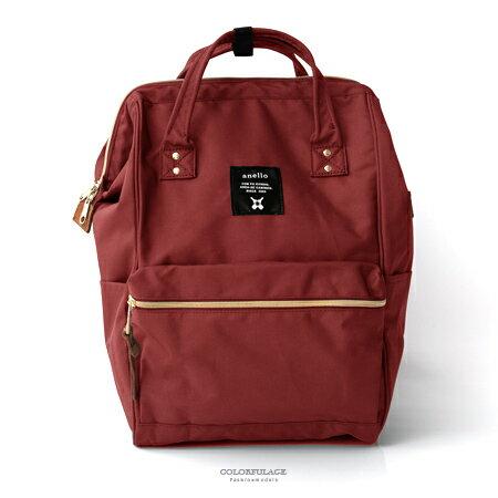 後背包 日本anello手提大開口後背包雙肩背包 大容量空間設計 媽媽包 柒彩年代【NZ496】單個售價