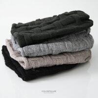 保暖配件推薦毛帽 MIT麋鹿格紋針織帽 柒彩年代【NMA9】單頂