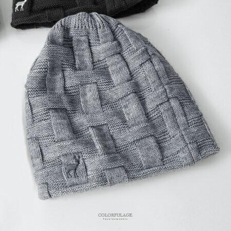 毛帽 MIT麋鹿格紋針織帽 柒彩年代【NMA9】單頂