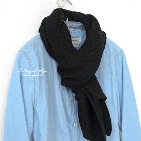 圍巾 秋冬粗針織斜角圍巾 柒彩年代【NMD4】 - 限時優惠好康折扣