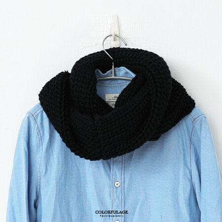 脖圍 溫暖厚實雙層針織圍巾 柒彩年代【NMD5】 - 限時優惠好康折扣