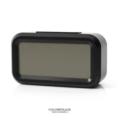 鬧鐘 低調黑色LCD大數字呈現 語音報時感光聰明鐘 溫度.貪睡多功能 柒彩年代【NV1】創意配件 - 限時優惠好康折扣