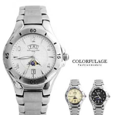 不鏽鋼腕錶 范倫鐵諾Valentino日本機芯日期.星期 柒彩年代 【NE1227】原廠公司貨 0
