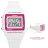 CASIO卡西歐 夏日繽紛粉白電子運動手錶腕表 女孩專屬錶款 有保固 柒彩年代【NE1236】原廠公司貨 0